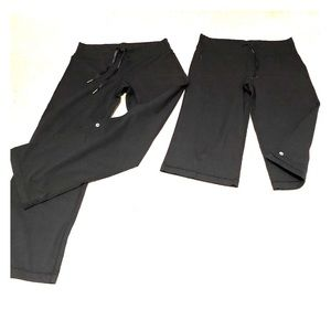 2 pairs of Lululemon! long pants and Caprii pants